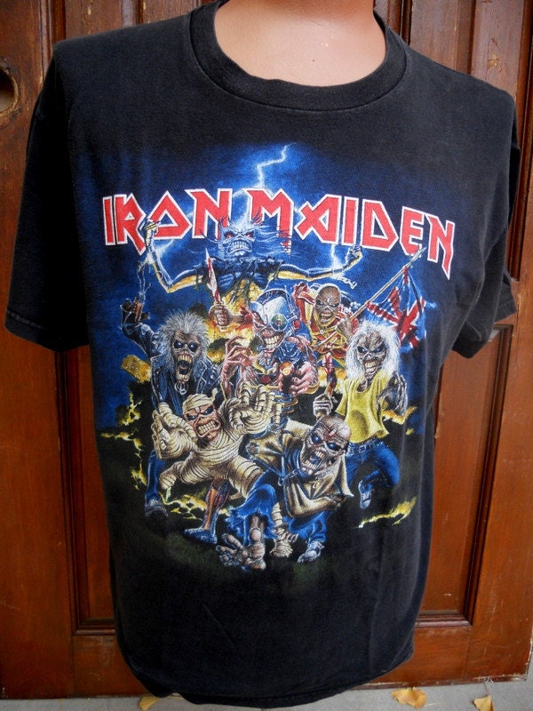 Vintage Authentic Iron Maiden T Shirt Best Of The Beast
