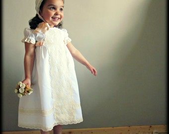 SARA (1T to 6+ years).Toddler.Girl. Dress.Gown.Imperial batiste,swiss lace.Custom your OWN outfit.Baptism.Heirloom.Easter.Wedding.Communion