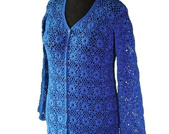 Handmade sweater  Crochet  Elegant sweater  Womens sweater   Cotton yarn  Quick shipping worldwide 10-14 business days