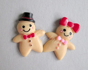 Gingerbread Family Resin Magnets. Christmas magnet. Christmas decoration.