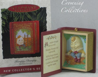 1993 Hallmark Humpty Dumpty Ornament Book Mother Goose Series 1st Keepsake #1 MIB RARE