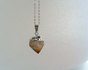 Citrine Point Gem Medicine Necklace