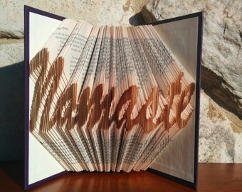 Namaste - Folded Book Art - Fully Customizable, yoga, holistic