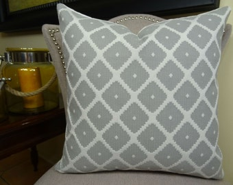 Decorative Designer Pillow Cover - Grey White Geometric Pillow - Modern Geometric Pillow - Gray Accent Pillow - Gray Throw Pillow - 11196