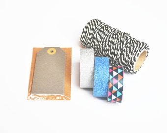 Blue and Grey Gift Packaging Kit