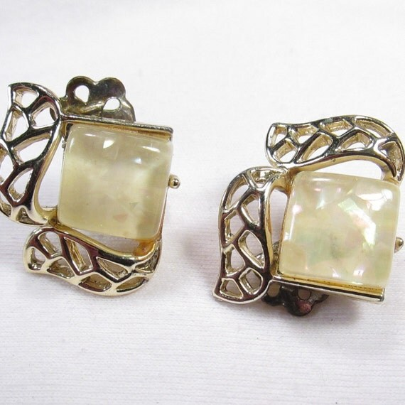 VTG Opalescent Earrings by Coro