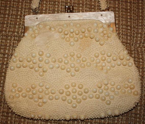 Classic VTG Bead Bag with Lucite Trim