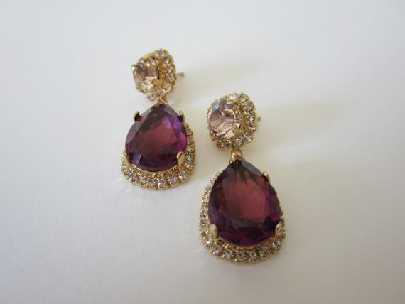 30 Off Drop Chandeliers Swarovski Gold Plated Earrings Dangle