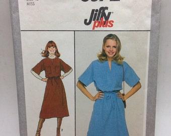 Vintage 1970's pullover dress simplicity pattern #8572 size 12