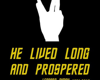 Leonard Nimoy he lived long and prospered custom shirt
