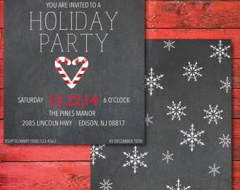 Holiday Party Chalkboard Invitation
