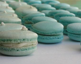 1dozen/12 gluten free macarons, french macarons, french cookies, blue macarons,pink macarons,white macarons ,green macarons,purple macarons