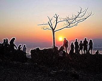 Silhouette Sunrise at The Top - Judaean Desert