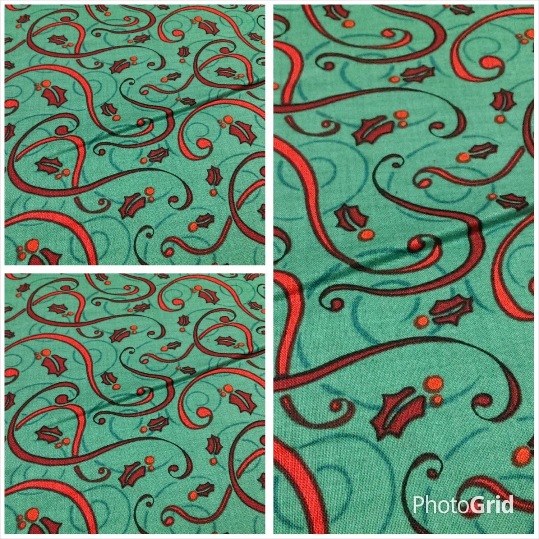 Red green christmas fabric hanukkahfabric christmas for Fabric supply