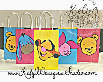 Winnie the Pooh & Friends Birthday Party Decor - Set of 10 PARTY FAVOR BAGS