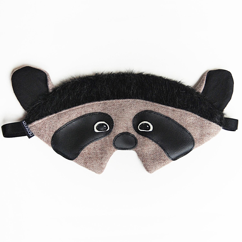 Raccoon sleep mask: racoon silk eye mask sleeping mask travel Raccoon Eye Mask