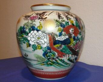 Vintage Genuine KUTANI Vase JAPAN