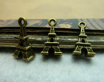 20pcs 5x8x15mm Eiffel Tower Pendants Handmade Jewelry Supplies A