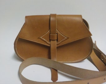 Magyar-Style Leather Handbag - Shipping Included