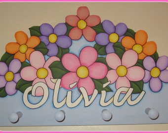Personalized FLower Name Plaque