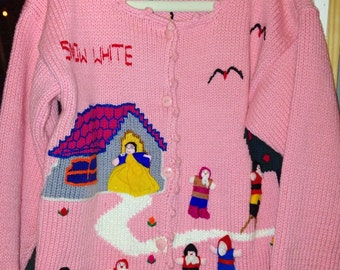Girls Disney Sweater, Disney Sweater, Girls Sweater, Vintage Disney Sweater, Knit Sweater, Vintage Girls Clothing, Girls Clothes