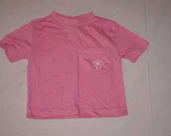 Vintage 1980's - OshKosh B'Gosh Baby Shirt in Pink