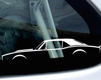2X car silhouette stickers - For Chevrolet Camaro 1968 muscle car