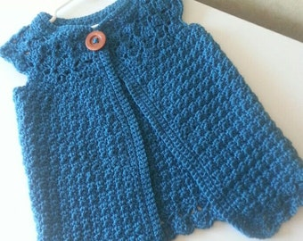 Crochet Girls Cardigan, Girls sweater, toddler cardigan, child cardigan, sweater Sizes 12 Months - 5T