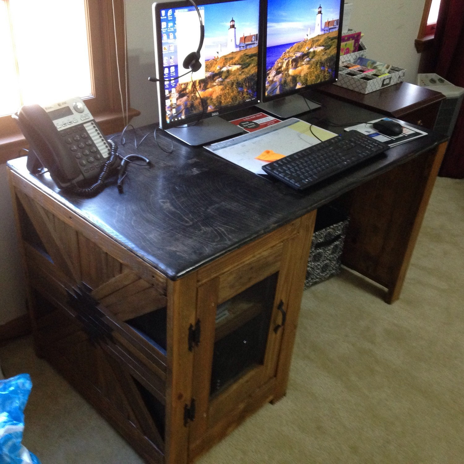 Rustic Handmade Desk Or Nightstand Made From By