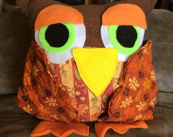 Owl Pillow and Remote Holder