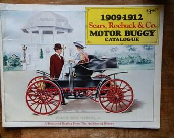 Vintage 1970's Reproduction Sears, Roebuck & Co Motor Buggy Catalogue 1909-1912