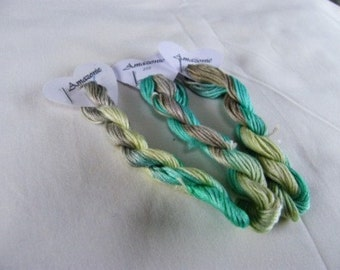 250 - Amazonie Hand Dyed variegated Stranded Cotton, by Fils à Soso. Each skein is 8 metres with 6 strands.