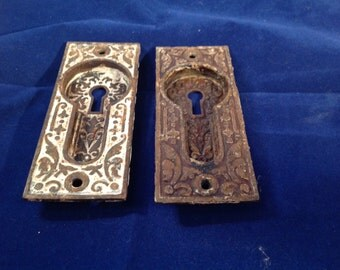 Sargent and Co. Pocket door recessed key plates