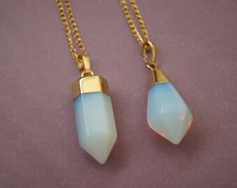 Opalite Necklace,Mineral Jewelry, Boho Necklace, Free People Handmade, Gemstone Jewelry, Opalite Jewelry