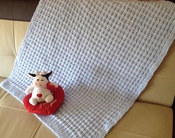 Waffle Weave Baby Blanket