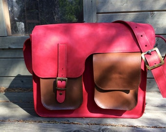 Handmade Genuine Leather Messenger Bag