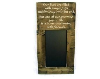 Framed Chalkboard Large Rustic Wood Gift Kitchen Wall Decor (#1074-CB)