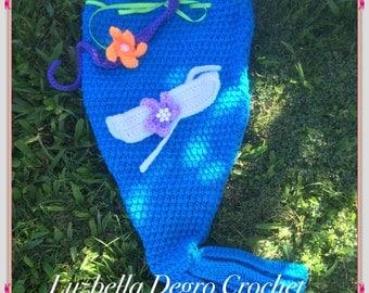 Crochet Little Mermaid Outfit.