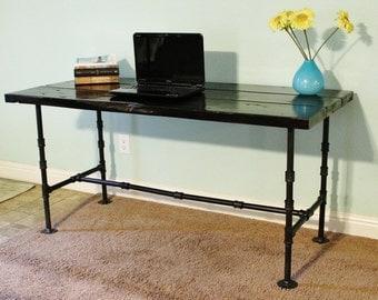 Desk, Wood Desk, Reclaimed Wood Desk, Pipe Desk, Industrial Desk, Rustic Desk, Wooden Desk, Reclaimed Wood Table, Pipe Table