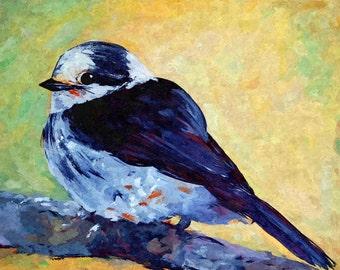 422, Original Acrylic bird painting, Acrylic bird painting, bird painting, original art, acrylic art, home decor, limited edition