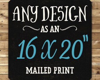 Buy As Printed Poster in 16 x 20 inch, Custom Printing, Pick Any Design From I Love Printable Shop, Printing Service, Ship Worldwide