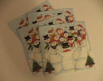 4x Paper Napkin for Decoupage and Crafts
