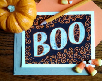 INSTANT DOWNLOAD Boo Digital Greeting Card Download