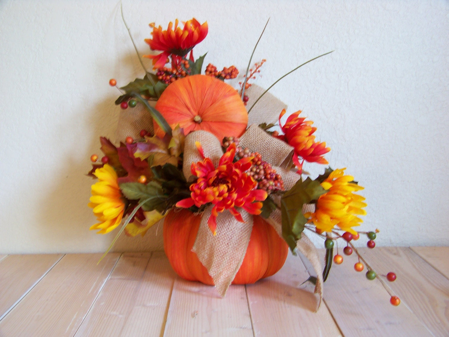 Silk Fall Arrangement Flower Arrangement By Fireflyridgefarm