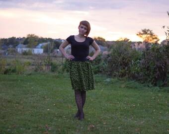 Neon Chiroptera Circle Skirt with Pockets
