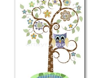 Tree Digital Art Print Digital Download Print Nursery Digital Print Nursery Printable Art Instant Download Baby Boy Nursery Decor 8x10 11X14