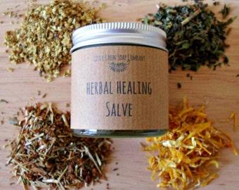 Herbal Healing Salve, Healing Balm, Natural Eczema Balm, Organic Skin Treatment