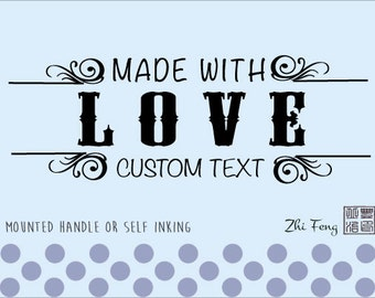 Custom Self Inking / Rubber stamp Handmade by, created by, with love - 09
