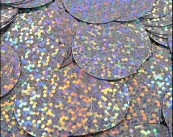 Hologram Silver Disc Sequins 24mm - JR02831