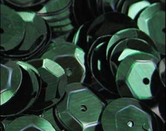 Metallic Forest Green Cupped Sequins 8mm - JR02707